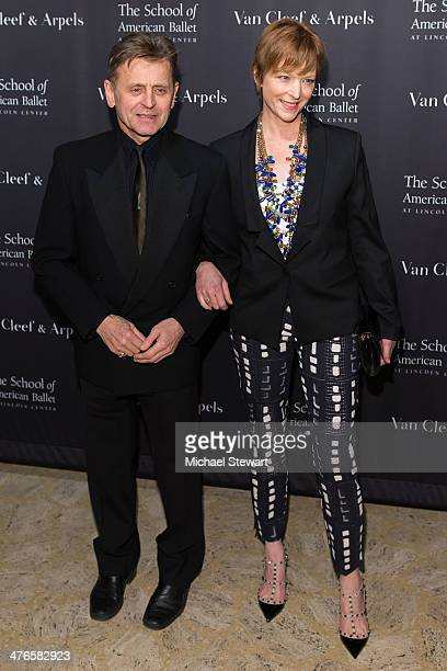 Mikhail Baryshnikov and Lisa Rinehart attend the School Of American Ballet's 2014 Winter Ball at David Koch Theatre at Lincoln Center on March 3 2014...