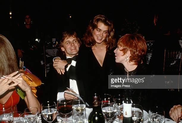 Mikhail Baryshnikov Brooke Shields and Shirley MacLaine circa 1988 in New York City