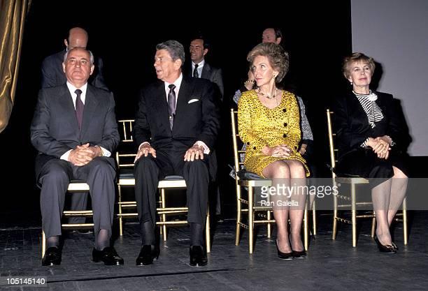 Mikhail Gorbachev Ronald Reagan Nancy Reagan and Raisa Gorbachev