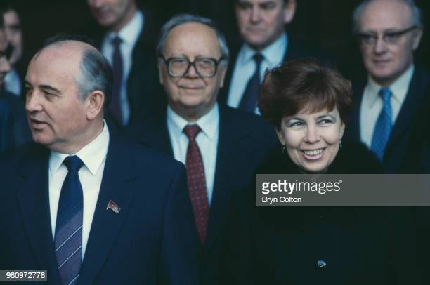 Mikhail Gorbachev Russian Politburo member and second in line at the Kremlin with his wife Raisa Gorbachev during his first visit to the United...