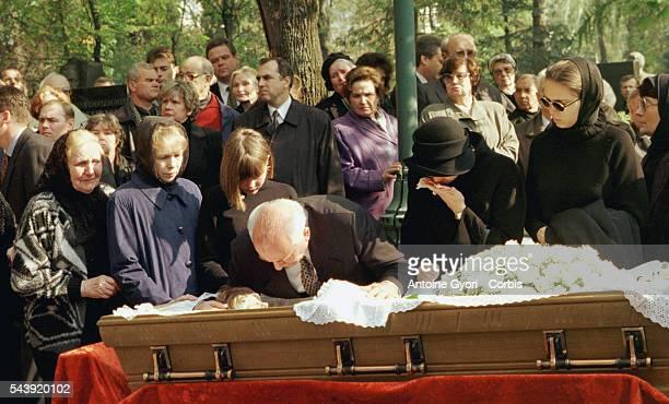Mikhail Gorbachev with his granddaughter Kseniya and daughter Irina