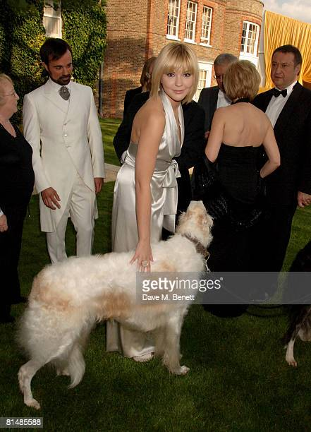 Mikhail Gorbachev's Granddaughter Anastasia Virganskaya arrives at the Raisa Gorbachev Foundation Party at the Stud House Hampton Court Palace on...