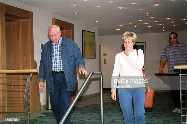 Mikhail Gorbatchev And Irina Virganskaja After Visiting Raissa In Hospital In Munster Germany On September 16 1999