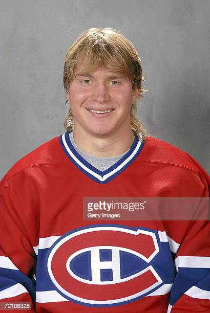 Mikhail Grabovski of the Montreal Canadiens poses for a portrait during a Media Day photo shoot at the Bell Centre in Montreal Quebec Canada on...