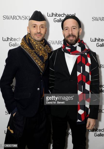 Mikhail Karikis and guest attend a glamorous gala dinner at Whitechapel Gallery as Rachel Whiteread is celebrated as the recipient of the Whitechapel...