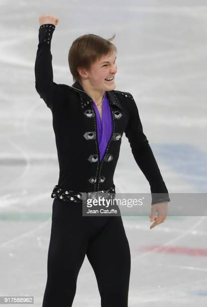 Mikhail Kolyada of Olympic Athetes of Russia competes in the Men Free Skating during the Figure Skating Team Event on day three of the PyeongChang...