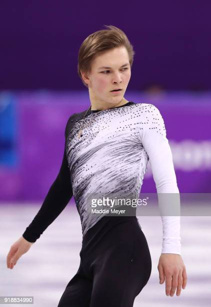 Mikhail Kolyada of Olympic Athlete from Russia competes during the Men's Single Skating Short Program at Gangneung Ice Arena on February 16 2018 in...