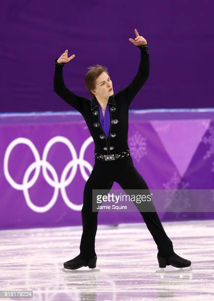 Mikhail Kolyada of Olympic Athlete from Russia competes during the Men's Single Free Program on day eight of the PyeongChang 2018 Winter Olympic...