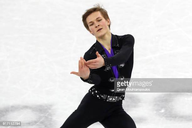Mikhail Kolyada of Olympic Athlete from Russia competes in the Figure Skating Team Event – Men's Single Free Skating on day three of the PyeongChang...