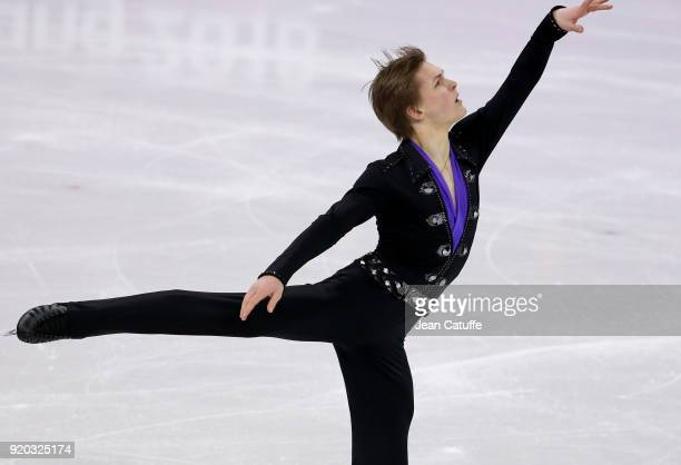 Mikhail Kolyada of Olympic Athlete from Russia during the Figure Skating Men Free Program on day eight of the PyeongChang 2018 Winter Olympic Games...