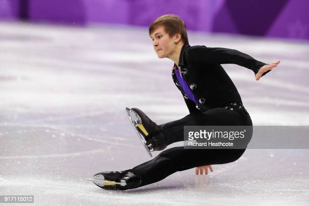 Mikhail Kolyada of Olympic Athlete from Russia stumbles during his routine in the Figure Skating Team Event – Men's Single Free Skating on day three...