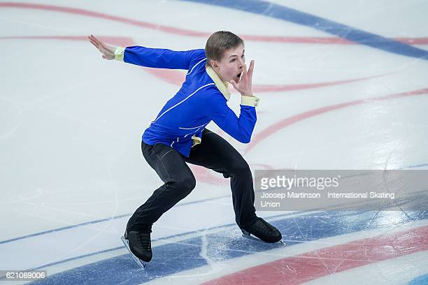 Mikhail Kolyada of Russia competes during Men's Short Dance on day one of the Rostelecom Cup ISU Grand Prix of Figure Skating at Megasport Ice Palace...