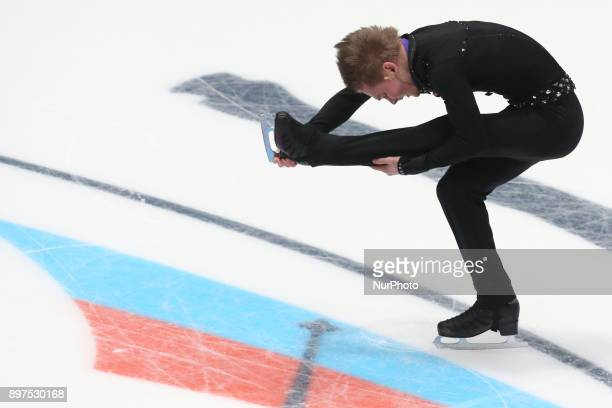 Mikhail Kolyada performs during the men's individual free program event at the Russian Figure Skating Championships in St on December 23 2017...