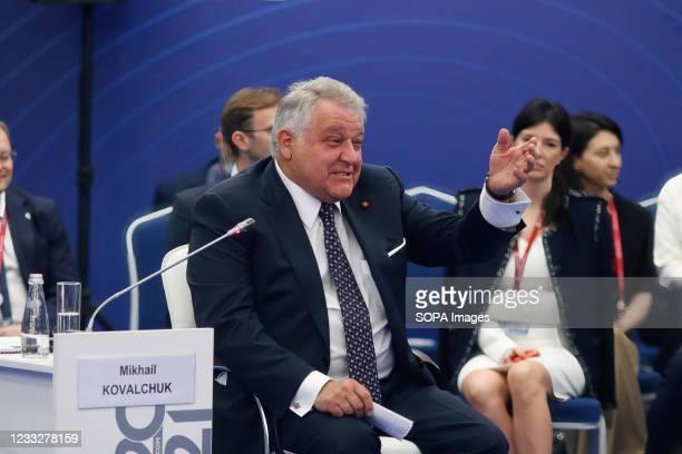 Mikhail Kovalchuk, President, National Research Centre Kurchatov Institute seen during the St. Petersburg International Economic Forum, Business...