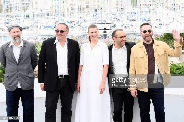 Mikhail Krichman Alexander Rodnyansky Maryana Spivak Andrey Zvyagintsev and Alexey Rozin attend the Loveless photocall during the 70th annual Cannes...