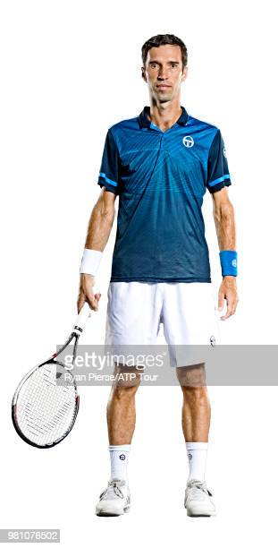 Mikhail Kukushkin of Kazakhstan poses for portraits during the Australian Open at Melbourne Park on January 12 2018 in Melbourne Australia
