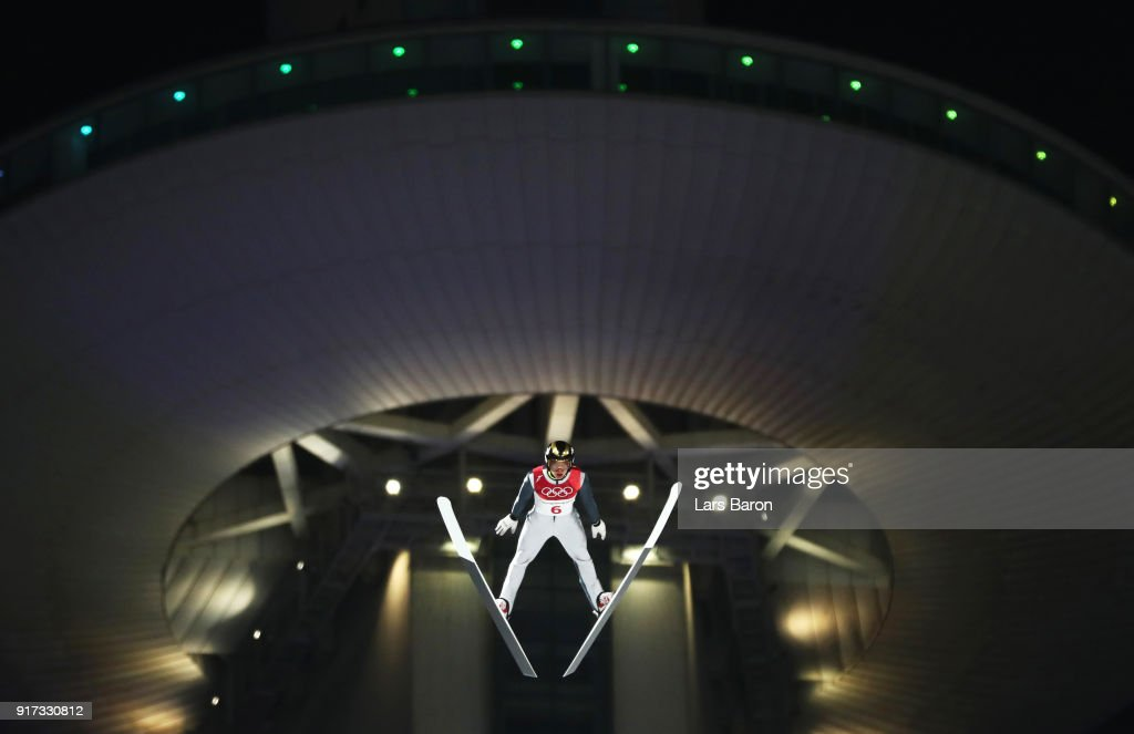 Mikhail Nazarov of Olympic Athlete from Russia makes a jump during the Ski Jumping - Men's Normal Hill Individual Final on day one of the PyeongChang 2018 Winter Olympic Games at Alpensia Ski Jumping Center on February 10, 2018 in Pyeongchang-gun, South Korea.