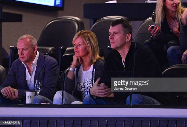 Mikhail Prokhorov attends the Toronto Raptors vs Brooklyn Nets playoff game at Barclays Center on April 25 2014 in New York City