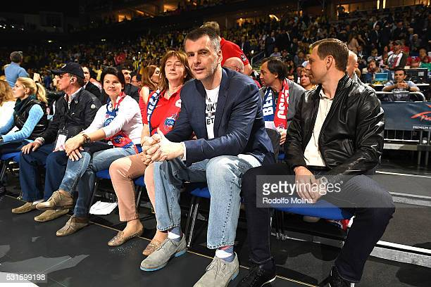 Mikhail Prokhorov Russian owner of Brooklin Nets attend during the Turkish Airlines Euroleague Basketball Final Four Berlin 2016 Championship game...