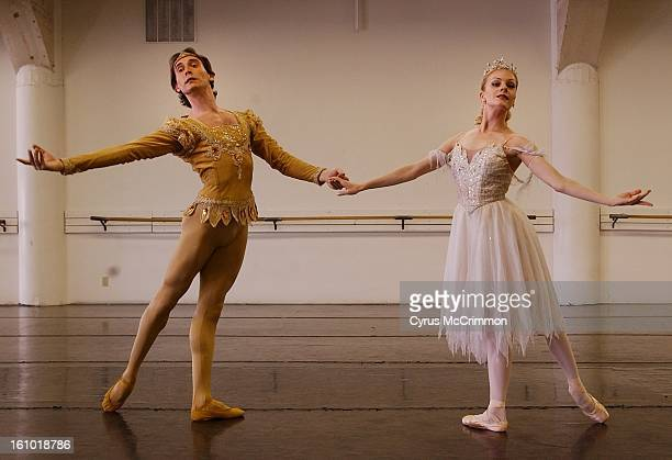 Mikhail Ronikov who plays Oberon and Michelle Dolighan who plays Titania in the upcoming Colorado Ballet's production of A Midsummer Night's Dream at...