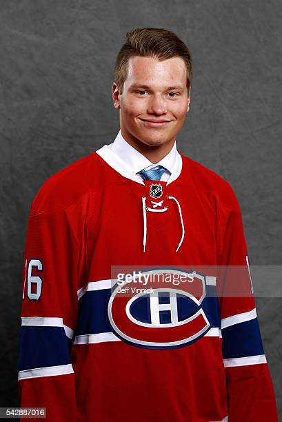 Mikhail Sergachev selected ninth overall by the Montreal Canadiens poses for a portrait during round one of the 2016 NHL Draft at First Niagara...