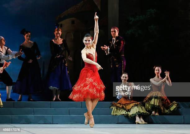 Mikhailovsky Ballet dancer Natalia Osipova performs a scene from 'Don Quixote' during a dress rehearsal at David H Koch Theater Lincoln Center on...