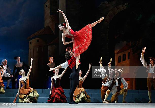 Mikhailovsky Ballet dancers Natalia Osipova and Ivan Vasiliev perform a scene from 'Don Quixote' during a dress rehearsal at David H Koch Theater...