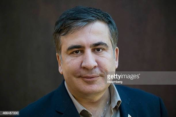 Mikheil Saakashvili former Georgian president poses for a photograph during an interview in Kiev Ukraine on Friday March 13 2015 Saakashvili said his...