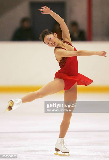 Miki Ando competes in the Figure Skating Girls Singles short program during the Yamanashi Winter National Sports Festival on February 1 2005 in Kofu...