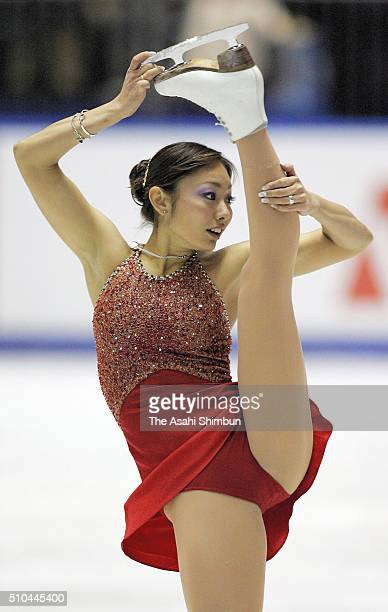 Miki Ando competes in the Women's Singles Free Program during day three of the 74th All Japan Figure Skating Championships at the Yoyogi National...