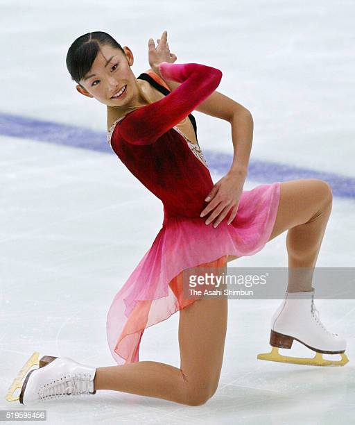 Miki Ando competes in the Women's Singles short program during day three of the All Japan Figure Skating Championships at the Kyoto Aquarena on...