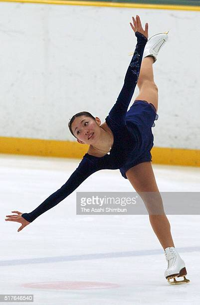 Miki Ando competes in the Women's Singles Short Program during day one of the 72nd All Japan Figure Skating Championships at the Big Hat on December...