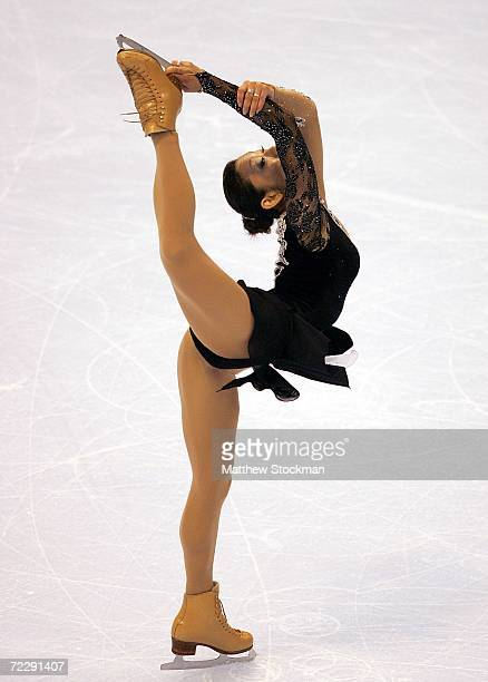 Miki Ando of Japan competes in the free skate portion of the ladies competition during Skate America October 28 2006 at the Hartford Civic Center in...