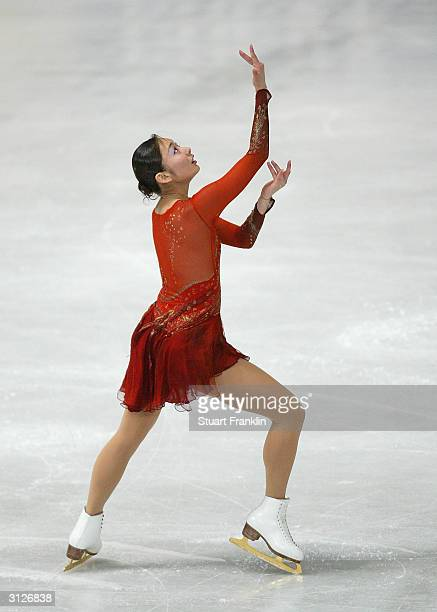 Miki Ando of Japan in action during the ladies free skating program at the 2004 World Figure Skating championships at Westfalenhalle on March 24 2004...