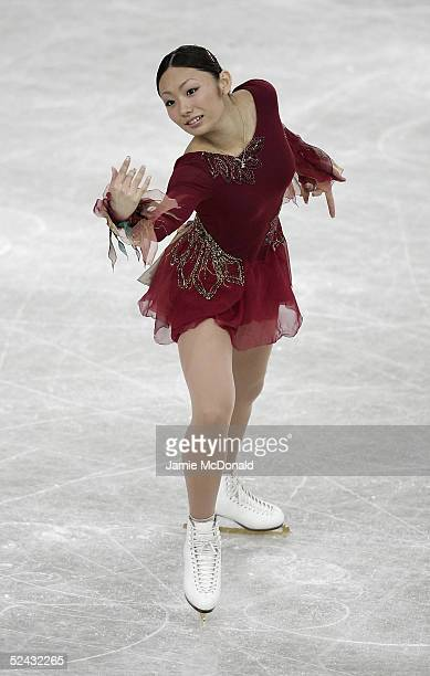 Miki Ando of Japan in action during the ladies qualiying free skating group B at the ISU World Figure Skating Championships at the Lunzhiki Sports...
