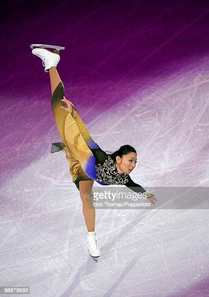Miki Ando of Japan performs at the Exhibition Gala following the Olympic figure skating competition at Pacific Coliseum on February 27 2010 in...