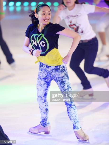 Miki Ando of Japan performs during 'Friends on Ice 2013' at ShinYokohama Skate Center on August 22 2013 in Yokohama Japan