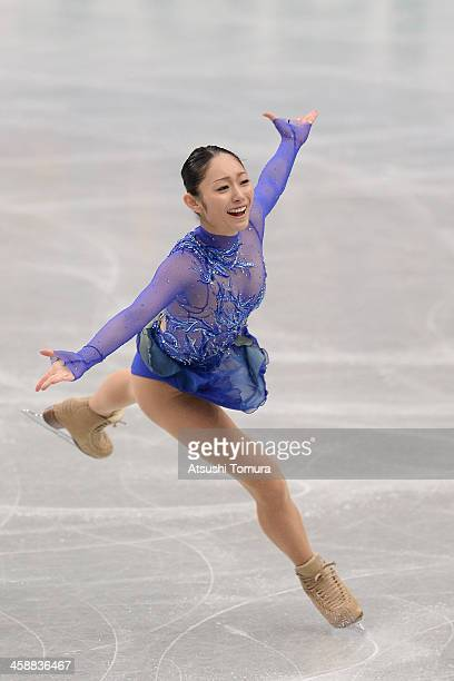 Miki Ando of Japan performs in the Ladie's short program during All Japan Figure Skating Championships at Saitama Super Arena on December 22 2013 in...