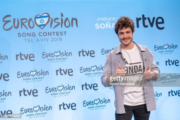Miki attends a press conference for Eurovision 2019 at the RTVE studios on January 21 2019 in Barcelona Spain