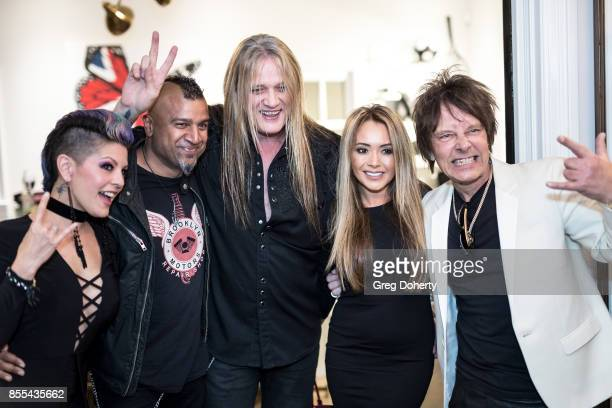 Miki Black Drummer Erik Eldenius Suzanne Bach Artist and Guitar Player Billy Morrison and Singer Sebastian Bach attend the Billy Morrison Aude Somnia...