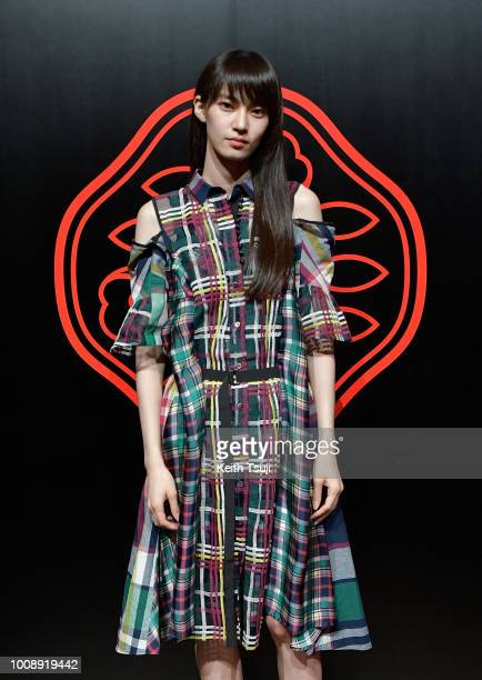 Miki Ehara attends the Shiseido Makeup Tokyo Launch Event on August 1 2018 in Tokyo Japan