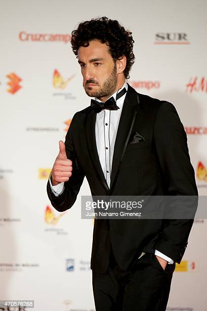 Miki Esparbe attends the 'Requisitos Para Ser Una Persona Normal' premiere during the 18th Malaga Spanish Film Festival at Cervantes Theater on April...