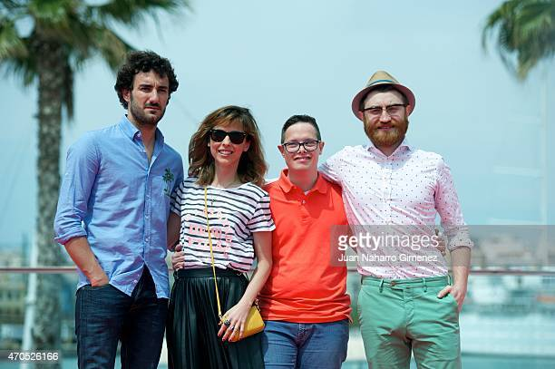 Miki Esparbe Leticia Dolera Jordi Llodra and Manuel Burque attend the 'Requisitos Para Ser Una Persona Normal' photocall during the 18th Malaga...