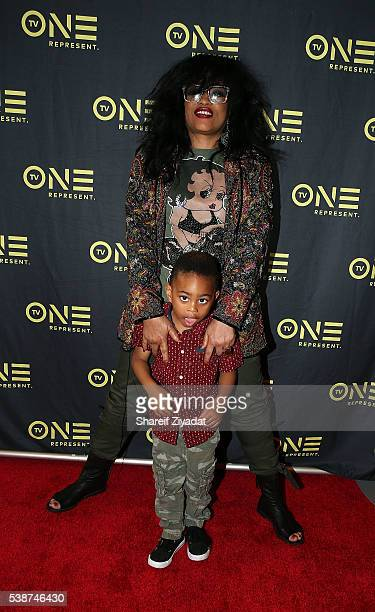 Miki Howard and Justice at Love Under New Management The Miki Howard Story at AMC Empire on June 7 2016 in New York City