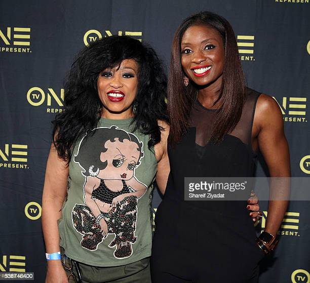 Miki Howard and Lola Ogunnaike at Love Under New Management The Miki Howard Story at AMC Empire on June 7 2016 in New York City