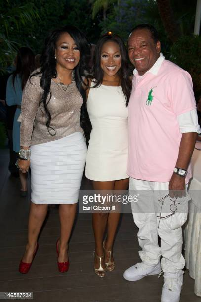 Miki Howard Kellita Smith and John Witherspoon attend Byron Allen's Lauch Event at Four Seasons Hotel Los Angeles at Beverly Hills on June 19 2012 in...
