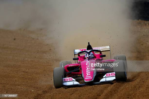 Miki Koyama of Japan drives her Tatuus F3 T-318 during the W Series round six and final race of the inaugural championship at Brands Hatch on August...