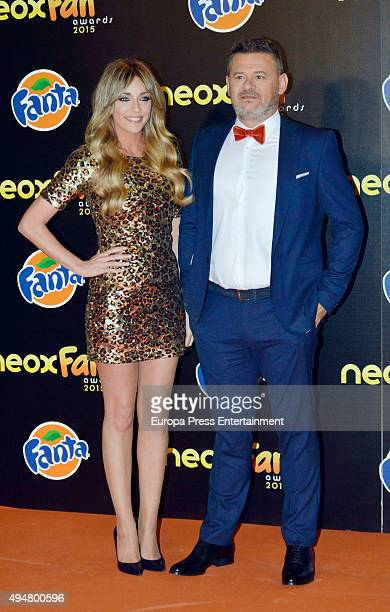 Miki Nadal and Anna Simon attend 2015 Neox Fan Award on October 28, 2015 in Madrid, Spain.