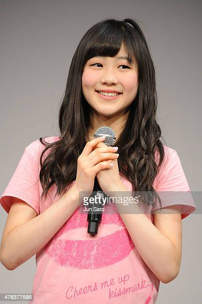 Miki Nishino of AKB48 attends the Alpen brand ambassador press event at Ebisu Garden Place on March 3 2014 in Tokyo Japan
