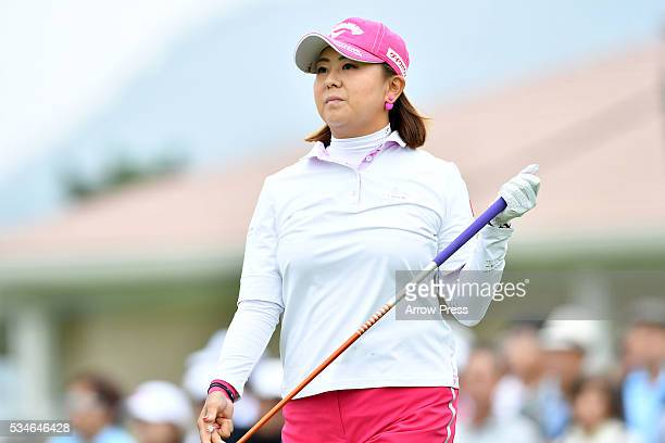 Miki Saiki of Japan looks on during the first round of the Resorttrust Ladies at the Grandee Naruto Golf Club XIV on May 27 2016 in Naruto Japan